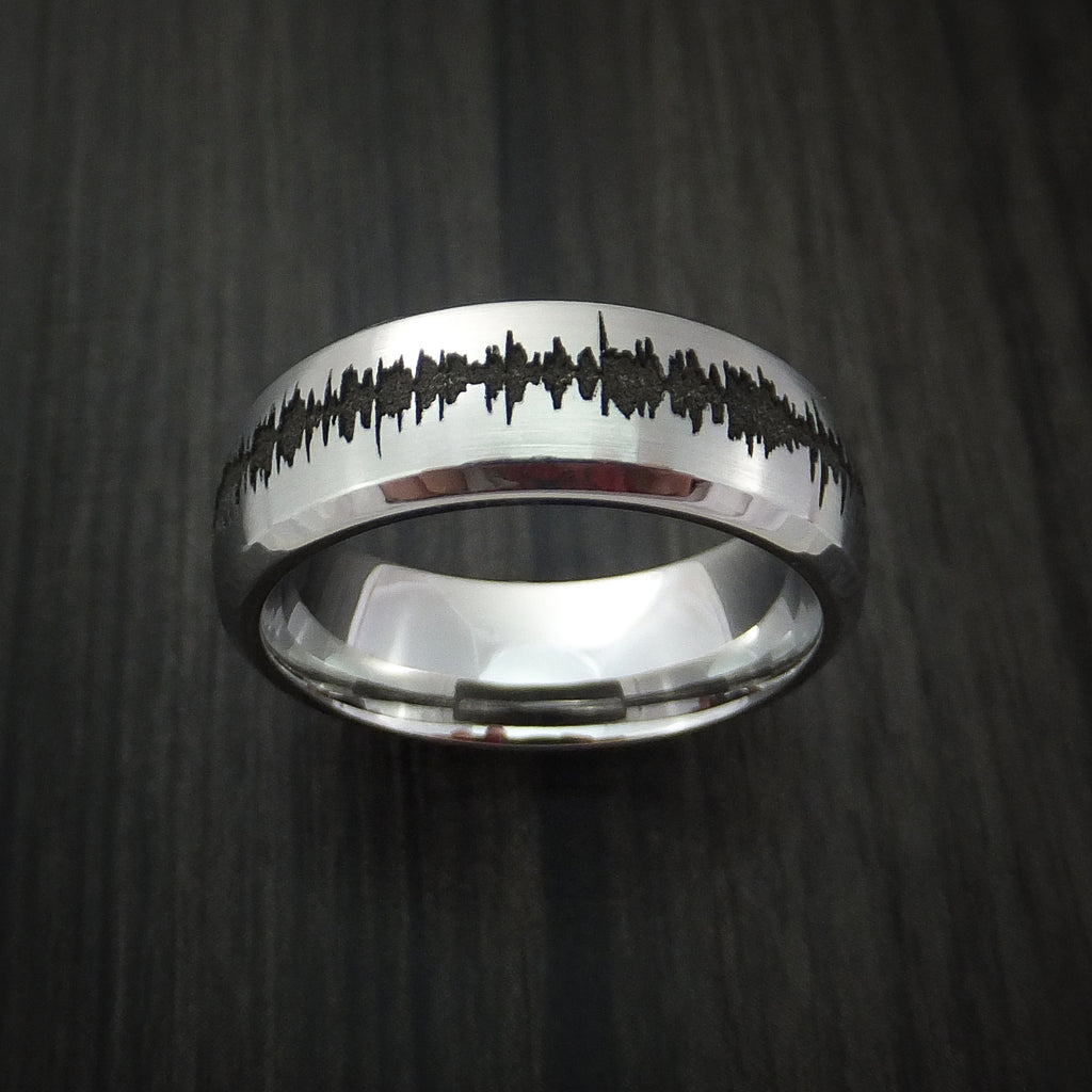 Cobalt Chrome Custom Sound Wave Ring