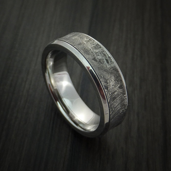 Cobalt Chrome and Gibeon Meteorite Ring Custom Made