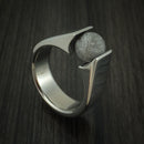 Titanium Tension Set Meteorite Sphere Custom Made Band