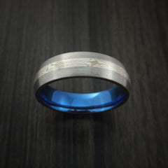 Titanium and Mokume Ring with Anodized Interior - Revolution Jewelry  - 2