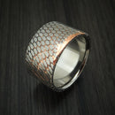 Wide Etched Superconductor Ring with Titanium Sleeve Custom Made Titanium-Niobium and Copper Band