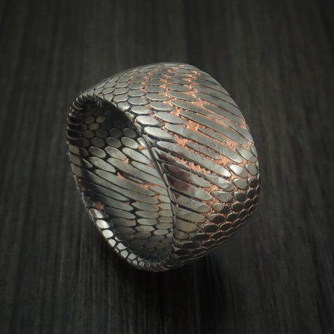 Wide Etched Superconductor Ring Custom Made Titanium-Niobium and Copper Band