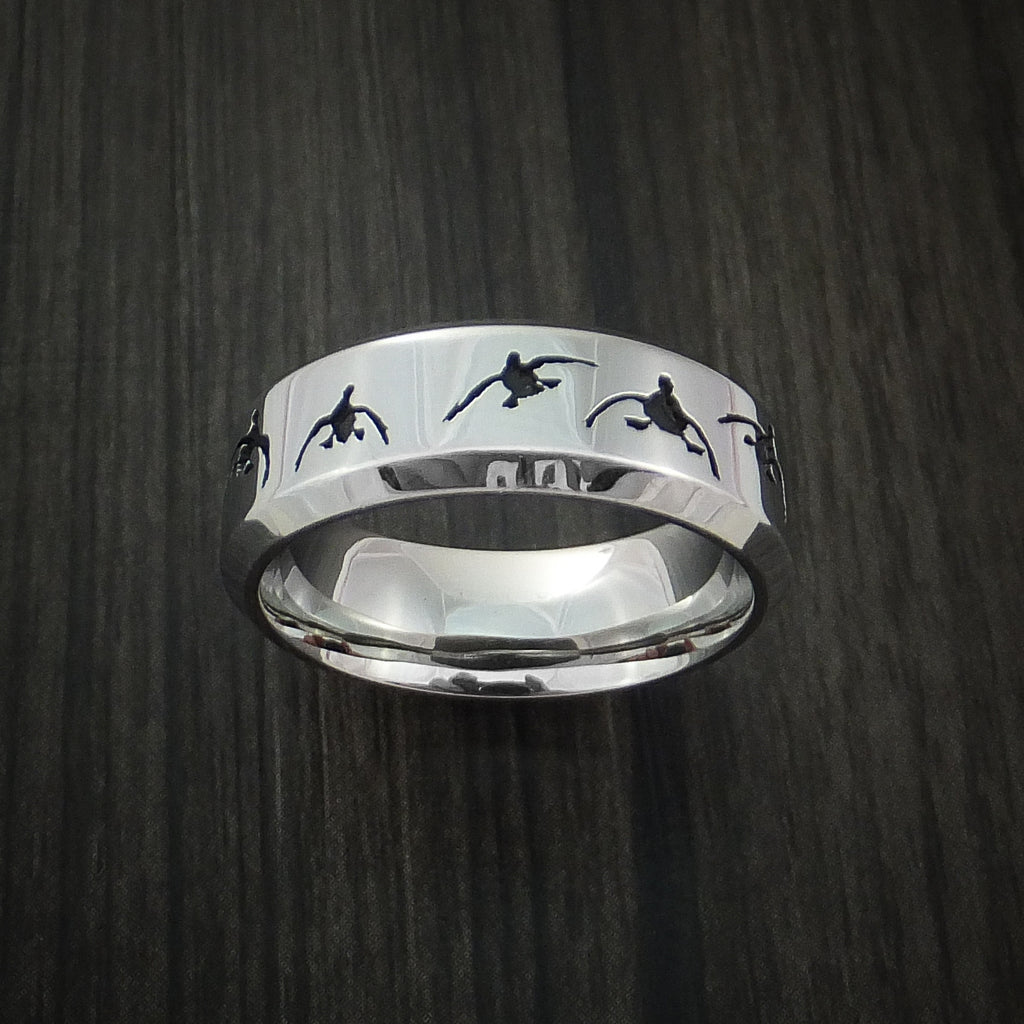 Cobalt Chrome Duck Hunter Ring Custom Made Band