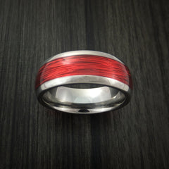 Titanium and Wire Ring Custom Made Choose your Color - Revolution Jewelry  - 3