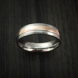 Titanium and 14K Rose Gold Ring Custom Made Wedding Band