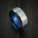 Black Zirconium Ring Traditional Style Band with Anodized Interior