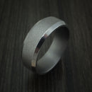 Tantalum Band with Wire Finish Custom Made Ring by Benchmark