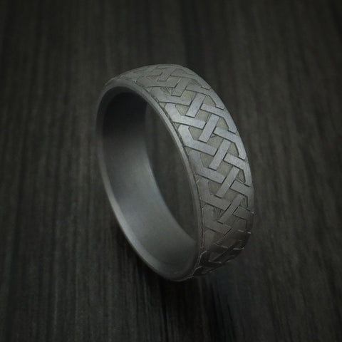 Tantalum Celtic Pattern Band Custom Made Ring