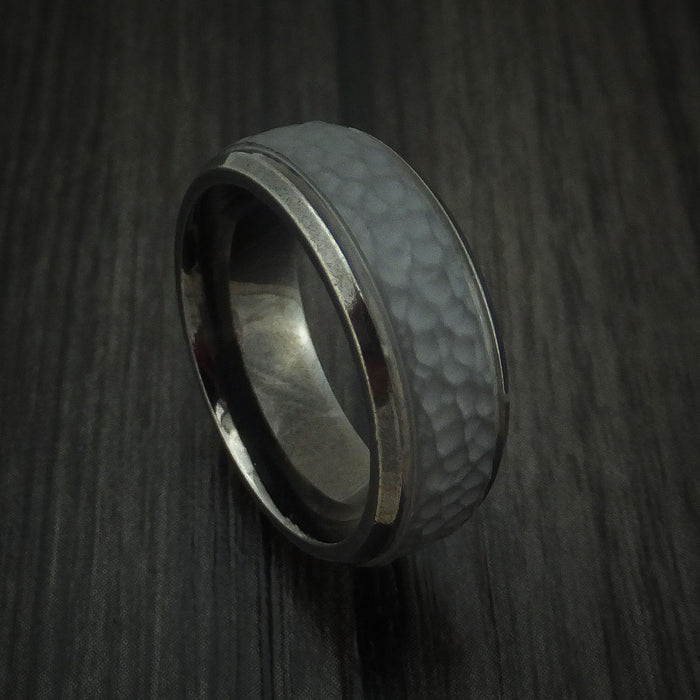 Tantalum Hammered Band Custom Made Ring by Benchmark