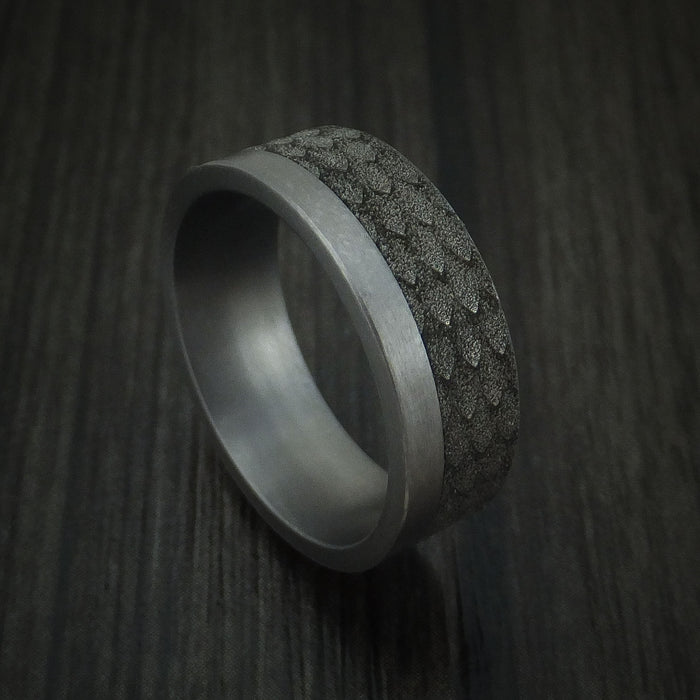 Textured Tantalum and Black Titanium Custom Made Band by Benchmark