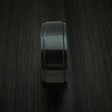 Black Zirconium Spinner Ring with Anodized Interior Custom Made Band