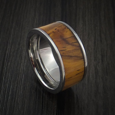 Leopard Wood Hardwood Wedding Bands and Engagement Rings