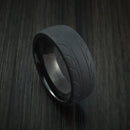 Black Zirconium Tire Tread Textured Carved Ring