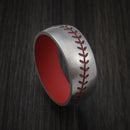 Titanium Baseball Ring with Cerakote Sleeve Custom Made