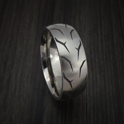Titanium Tread Ring Custom Made Tire Band