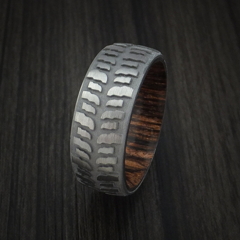 steel maverick wedding ring tire s damascus classic men rings band lashbrook designs