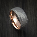 Titanium and 14K Rose Gold Sleeve Ring Custom Made Band
