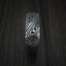 Kuro Damascus Steel Square Ring with Cocobolo Hardwood Sleeve Custom Made Band