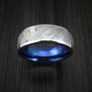 Cobalt Chrome Ring with Gibeon Meteorite Inlay and Anodized Titanium Sleeve Custom Made