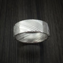 Kuro Damascus Steel and Gibeon Meteorite Ring Custom Made Band