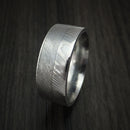 Damascus Steel and Gibeon Meteorite Ring Custom Made Band