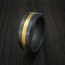 Elysium Black Diamond and 24K Gold Ring Custom Made Band