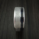 Cobalt Chrome and Gibeon Meteorite Ring with Carbon Fiber Custom Made Band