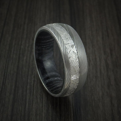 Charcoal Hardwood Wedding Bands and Engagement Rings