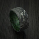 Damascus Steel Rock Hammer Ring with Hardwood Sleeve Custom Made