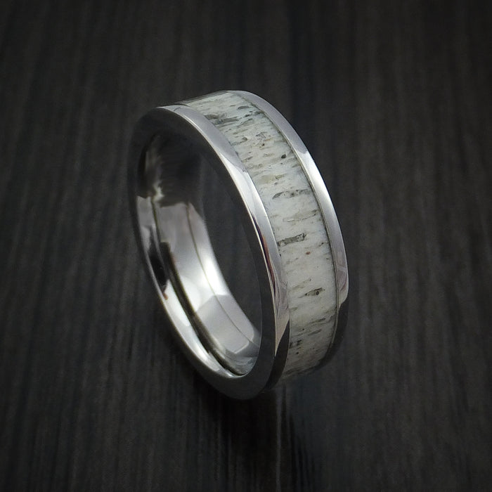 Titanium and Antler Ring Custom Made Band