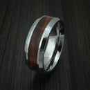 Tungsten Band with Desert Ironwood Burl Wood Inlay Custom Made Ring