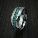 Tungsten Band with Turquoise Inlay Custom Made Ring