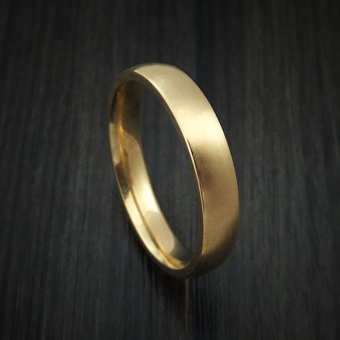 14K Yellow Gold Classic Style Wedding Band Custom Made