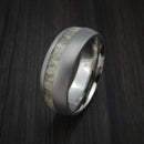 Titanium and Antler Ring Custom Made Hunter Band