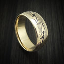 14K Gold Ring with Mokume Inlay Custom Made Band