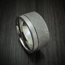 Titanium Custom Stipple Finish Ring