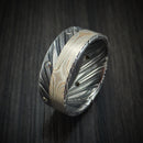 Kuro Damascus Steel with Mokume and Black Diamonds Custom Made Ring