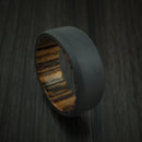Black Zirconium and Hardwood Sleeve Ring Custom Made