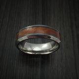 Black Zirconium and Thuya Burl Wood Hard Wood Ring Custom Made