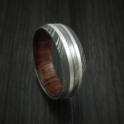 Koa Hardwood Wedding Bands and Engagement Rings