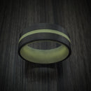 Carbon Fiber and Green Glow Ring Custom Made