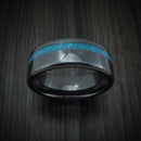 Black Ceramic and Opal Ring Custom Made