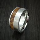 Cobalt Chrome and Zebrawood Ring Custom Made Wood Band