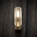 14K Gold Ring with Gold Braided Inlays Custom Made