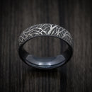 Black Titanium Forest Trees Mens Band