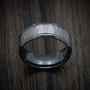 Black Titanium and Hammered Tantalum Custom Mens Ring