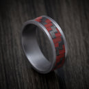 Tantalum and Red Carbon Fiber Mens Ring