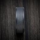 Blackened Tantalum with Two-Tone Finish Mens Ring