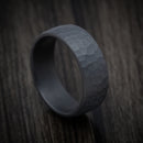 Hammered Blackened Tantalum Mens Ring