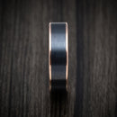14K Rose Gold and Black Titanium Mens Band